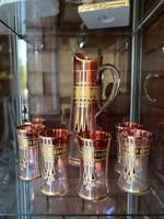 Különleges szecessziós üveg készlet