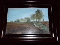 Mártélyi tanya festmény
