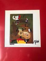 Joan Miró  eredeti, kézzel aláírt, korlátozott kiadású litográfia készült 1969-ben, 200 pél