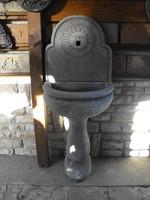 Eredeti  Olasz Műkő falikút  Fagyálló kő kültéri kerti mosdó csap kút 115cm