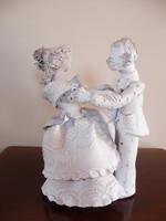 Kovács Éva kerámia táncoló pár