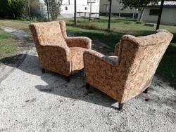 Retro masszív, tiszta füles fotel  - akár szállítással