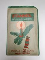 Retro karácsonyi szaloncukros stanniol papír csomagolás