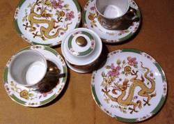 Sárkány mintás porcelán reggeliző készlet