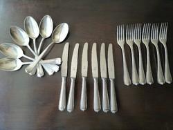 6 személyes ezüst evőeszköz készlet