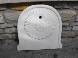 Eredeti  Olasz Új Műkő falikút  hátlap Fagyálló kültéri kerti mosdó csap kút fal