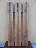Előszobafal fogas fenyő 3 akasztós 90*40*10 cm