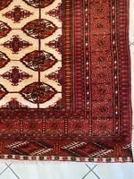 Kézi csomózású Semiantik Türkmén Szőnyeg 145x200