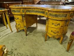 Ívelt vese alakú topolya íróasztal