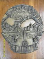 Olcsai Kiss Zoltán Budapest bronz nagyméretű plakett