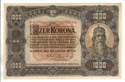 1000 korona 1920 2.