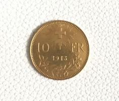 10 Frank arany,Svájc-Helvetia 1913