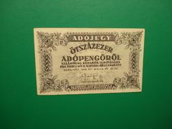 500000  adópengő 1946 fehér papíron