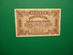 100000 adópengő 1946 fehér, vastagabb papír, 5600 rendelettel!
