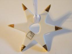 Goebel aranyozott porcelán csillag