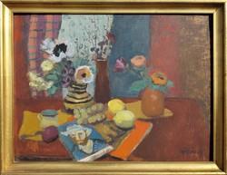 Szilvásy Margit / Csendélet Van Gogh könyvvel