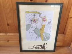 Salvador Dali múzeumi nyomat grafika
