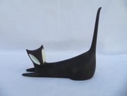 Royal Dux art deco macska, cica