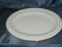 Ovális aranyozott porcelán  tál korának megfelelő