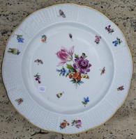 2.Herendi, szalagos tányér kézifestett különlegesség darab, antik!