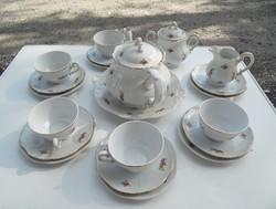 Régi Zsolnay süteményes és teáskészlet egyben sajnos egy csésze hiányzik