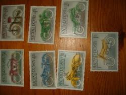 100 éves a motorkerékpár bélyeg sor 1985 magyar bélyegek 7 szép darabok  KIÁRUSÍTÁS