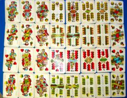Piatnik védjegyes magyar kártya (32 lapos) (1946-ból)