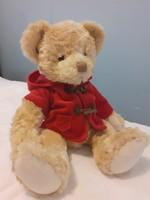 Cubby Bear piros kabátban (maci, mackó)