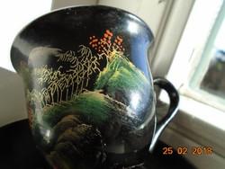 Kézzel festett japán lakkfa csésze alátéttel
