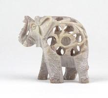 1C106 Faragott szerencsehozó márvány elefánt szobor