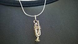 Új Ezüst medál-függelék trombita 925-ös