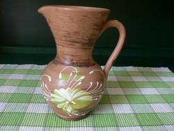 Régi cserép füles váza