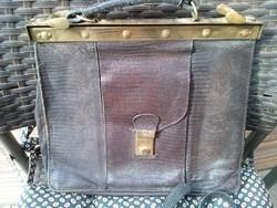 Igazi kígyóbőr női táska, iparművészeti válltáska, retikül 1980
