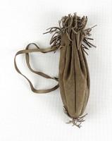 1C053 Régi hasított bőr dohánytartó 18.5 cm