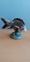 Kőbányai (Drasche) porcelán hal ritka festéssel