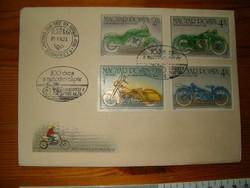 FDC 1985 100 éves a motorkerékpár bélyegnap első napi boriték levél KIÁRUSÍTÁS