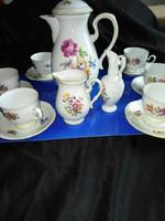 Német Rózsás porcelán kávéskészlet