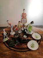 Hollóházi figurális porcelán szobor gyűjtemény
