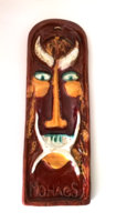 Craftsman glazed ceramic wall ornament