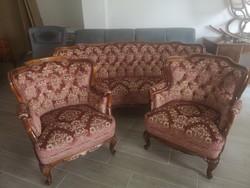 Üllőgarnitúra (3 Sz Szófa és 2 fotel)