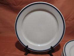 5 db retro Alföldi dupla kék csíkos lapos tányér