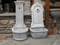 Eredeti Minőségi  Műkő falikút Fagyálló fehér kő  kültéri kerti csap ívó kút