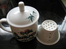 Vastag kerámia teás bögre szűrővel Pragensis Studio Linea