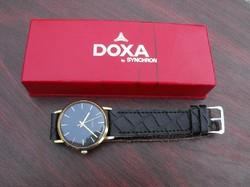 Ritka gyári(!) fekete számlapos svájci DOXA dobozában!!