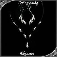 Esküvői, menyasszonyi, alkalmi ékszer szett, swarovszki kristály SSZ-ESW03-1