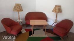 Mid century design nappali szett, ülőgarnitúra az 50-es évekből