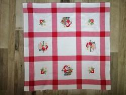 Karácsonyi pamutvászon hímzett terítő 75 x75