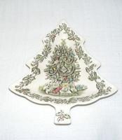 Angol karácsonyfa alakú kínáló