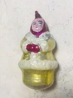 Régi retro karácsonyfadísz figura Nő