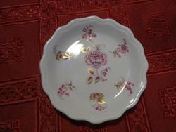 Aquincum porcelán mini ékszertartó, asztalközép, átmérője 9,3 cm.